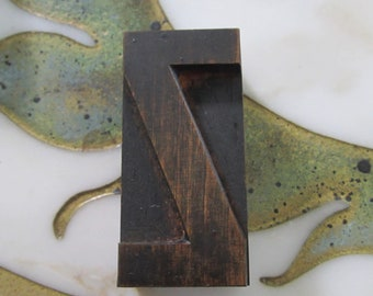 Letter Z Antique Letterpress Wood Type Printing Block