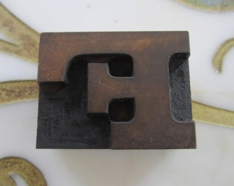 Letter F Antique Letterpress Wood Type Printing Block