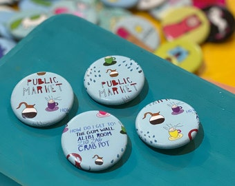 """1.25"""" Button - Seattle (pack of 10)"""