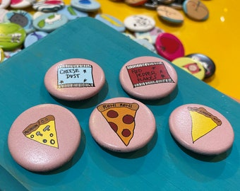 """1.25"""" Button - Pizza Party (pack of 10)"""