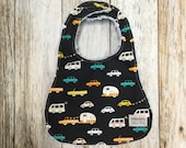 Baby Boy Bib in Cars and ...