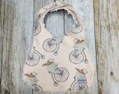 Baby Girl Bib in Bicycle ...