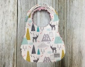 Baby Girl Bib in Mountain...