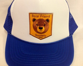 Youth Trucker Hat- with Bear Patch- Kids Trucker Hat 7345ca9afb52