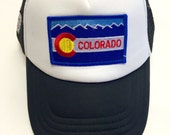 Toddler/Kids Trucker Hat- with Colorado patch