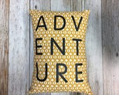 ADVENTURE Throw Pillow in...