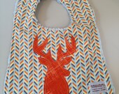 Baby Boy's Bib in ora...