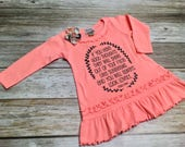 Girl Long Sleeved Ruffle ...