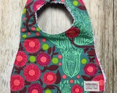 Baby Girl Bib in Pink and...