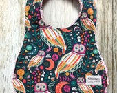 Baby Girl Bib in Owl and ...