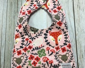 Baby Girl Bib in Woodland...