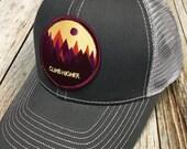 Women's Trucker Hat - Climb Higher Patch - Gray Trucker Hat