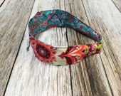 Reversible Fabric Covered Headband - Colorful Florals