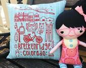 "Pillow Cover 14"" Breckenridge Colorado Custom Draw..."