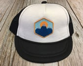 Baby Unisex Infant Trucker Hat with Mountain Peak Patch...