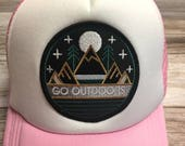 "Toddler/Kids Girl's Trucker Hat- pink with ""Go..."