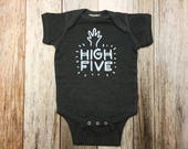 Grey High Five Onesie - B...