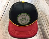 "Infant/Toddler Trucker Hat with ""I Like Bikes&quot..."