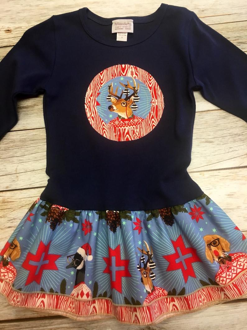 Girl's Christmas Dress Toddler Girls Holiday Christmas image 0