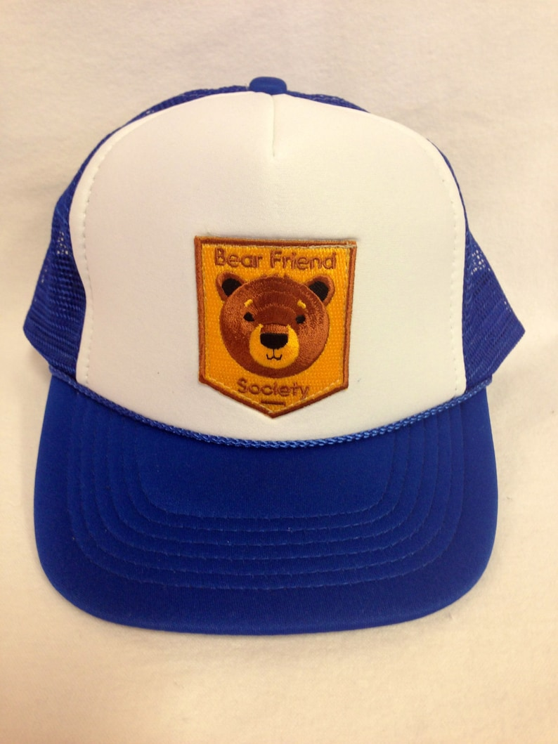 Youth Trucker Hat with Bear Patch Kids Trucker Hat image 0