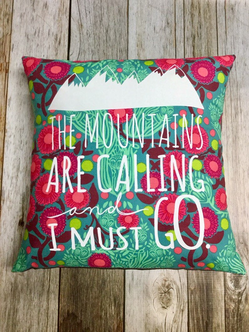 Grey Denim 14 Pillow Cover The Mountains Are image 0
