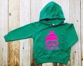 Girl's Hoodie - Send It- Toddler/Kids Sweatshirt- Appliqué Hoodie - Kelly Green