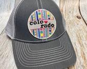 """Women's Trucker Hat - """"Colorado """"Patch - Gray Trucker Hat"""