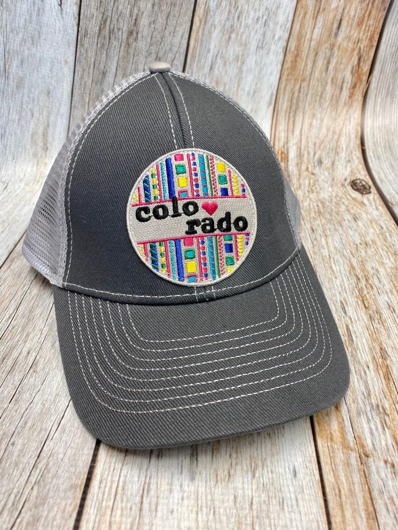 Women's Trucker Hat  Colorado Patch  Gray Trucker Hat image 0