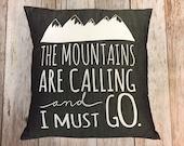 "Grey Denim 14"" Pillow Cover ""The Mountains Ar..."