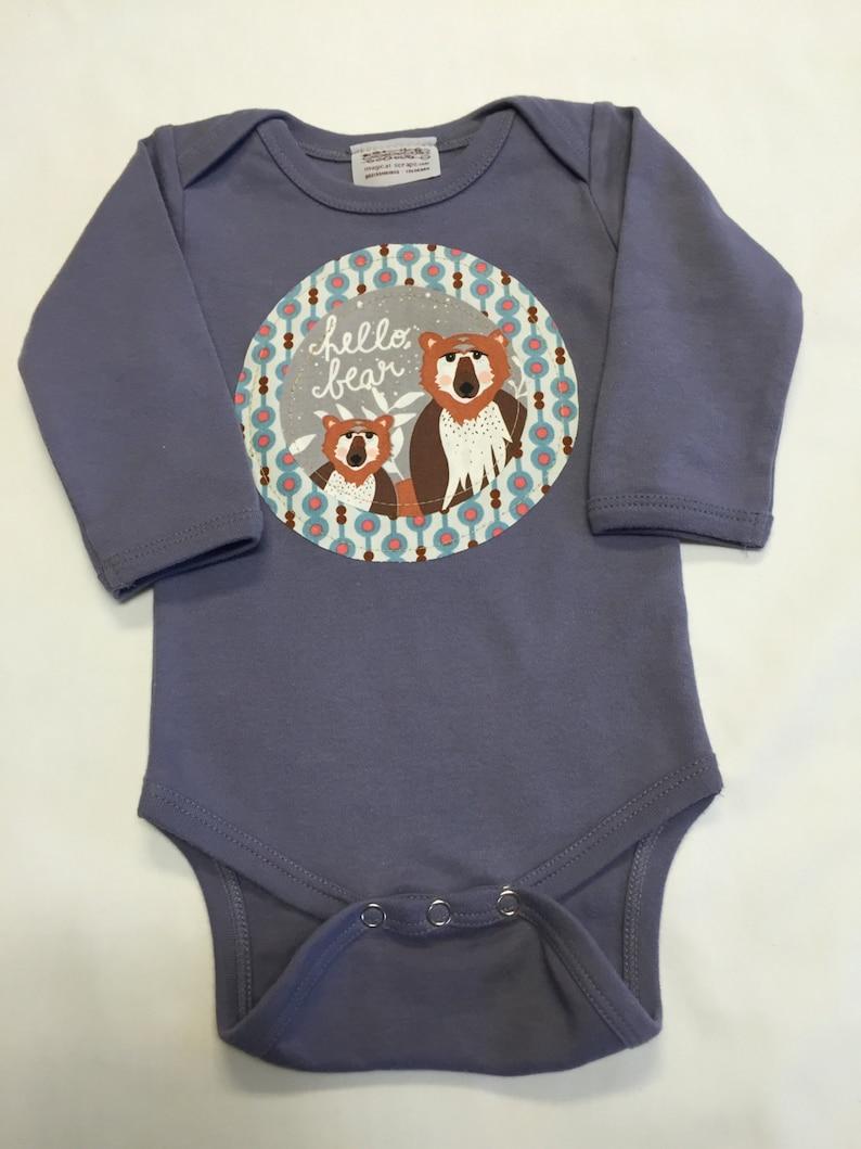 Gender Neutral Woodland Animal Bodysuit  Baby Shower image 0