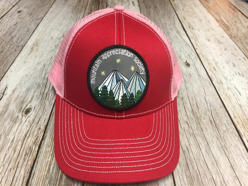 Women's Trucker Hat  Mountain Appreciation Society Patch image 0