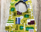Gender Neutral Bib in Geometric Elephant Fabric - Baby Shower Gift-Baby Accessories