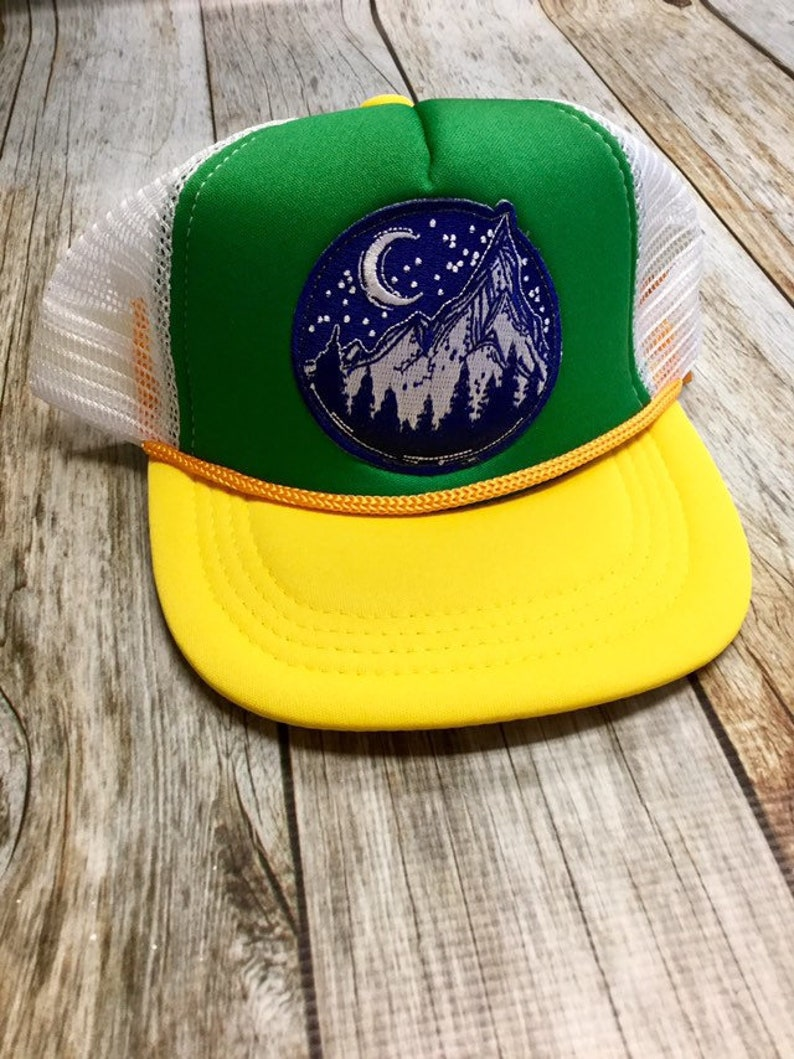 Toddler Trucker Hat with Mountain Patch-Baby image 0