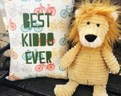Kid's Throw Pillow - Best Kiddo Ever Pillow on Orga...