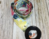 Women's Fabric Belt - Summer Flower Collection in Yellow, Orange, Pink and Blue