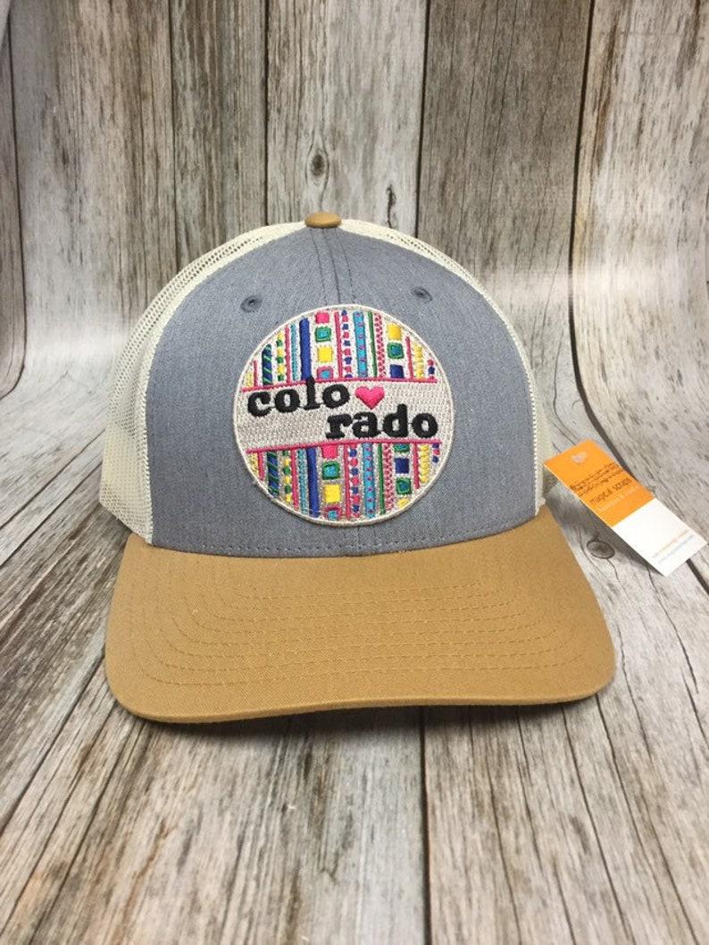Women's Trucker  Colorado Love Patch Trucker Hat Cute image 0