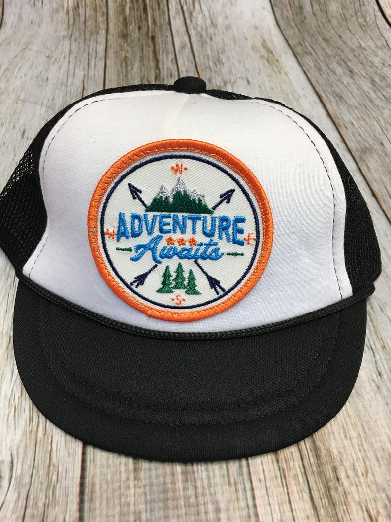 Baby Unisex Infant Trucker Hat with Adventure image 0