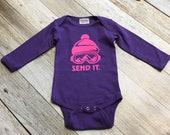 Girls Send It Longsleeve Bodysuit - purple - Infant Bodysuit
