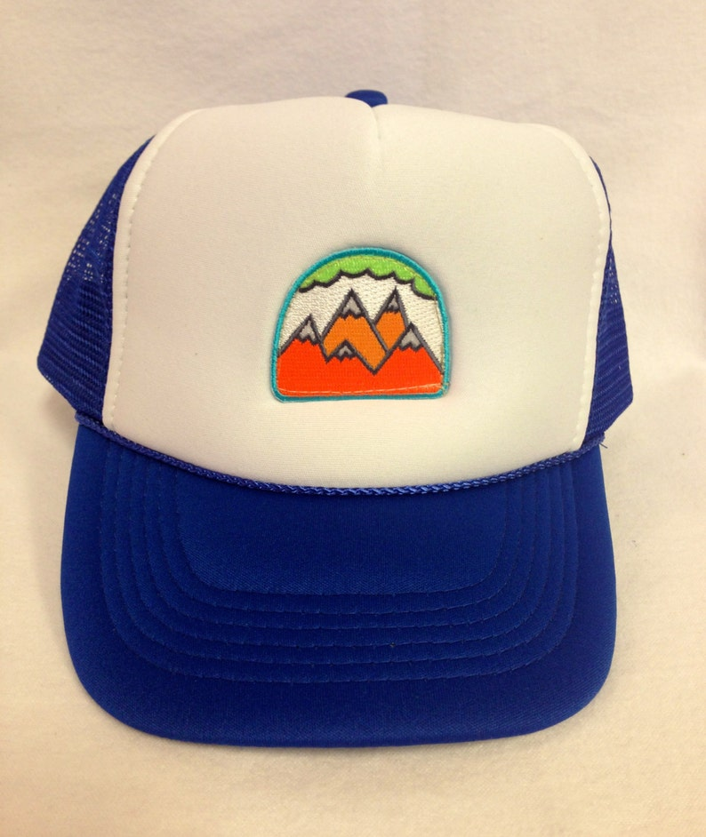 Youth Trucker Hat with Five Mountain Patch Kids Trucker Hat image 0