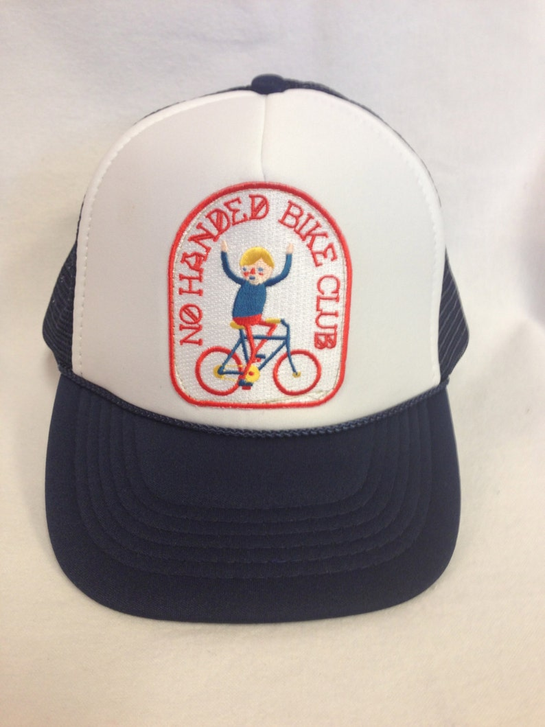 Youth Trucker Hat-with Bicycle Patch Kids Trucker Hat image 0