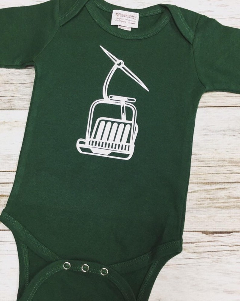 Gender Neutral Chairlift Bodysuit  Baby Shower Gift-Applique image 0