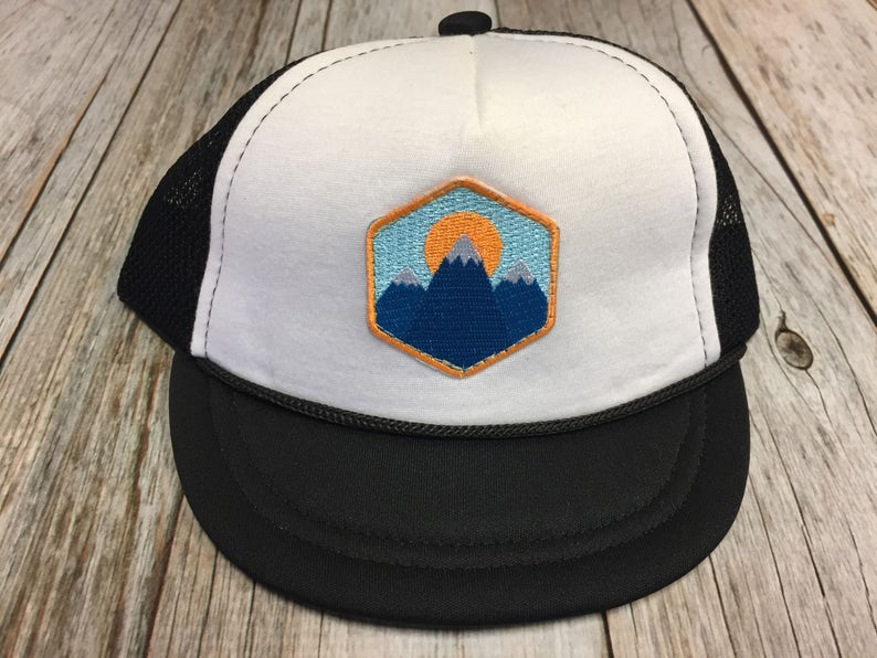 Baby Unisex Infant Trucker Hat with Mountain Peak Patch 0-6  a0310a32254