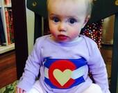 Girls Lavender Colorado Flag Lap Tee - Baby Girl- Baby ...