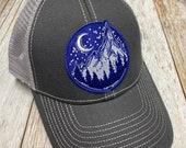 Women's Trucker Hat - Mountain Patch - Gray Trucker Hat