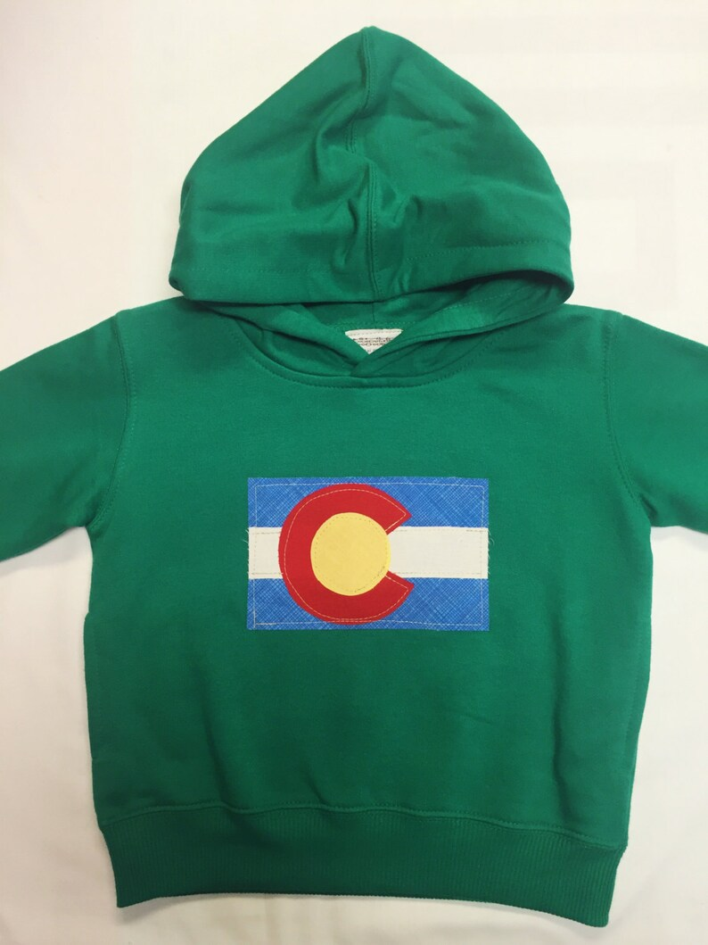 Colorado Flag Hoodie  Toddler/Kids Sweatshirt Appliqué image 0