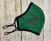 Snowboarder Fabric Mask Adjustable Face Mask Jersey knit Mask