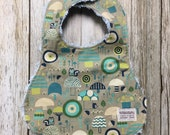 Gender Neutral Bib in Woodland Fabric - Baby Shower Gift-Baby Neutral-Baby Accessories