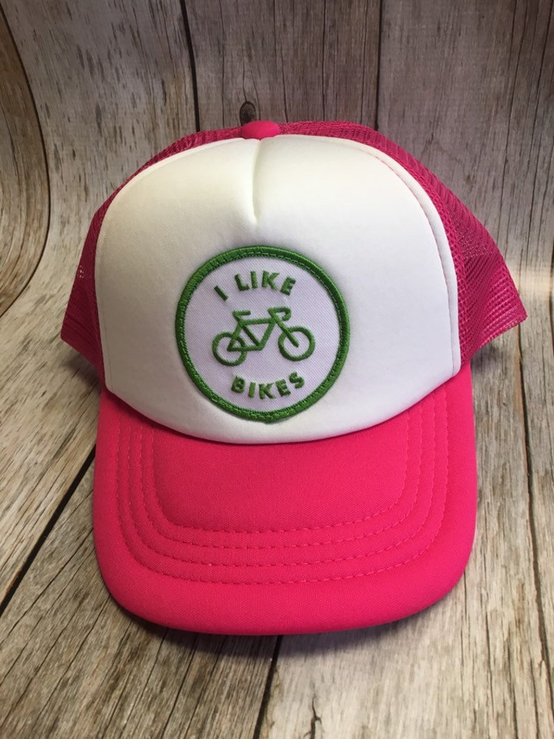 Toddler/Kids Girls Trucker Hat I Like Biles Patch Hot Pink/ image 0