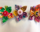 Girls Fabric Flower Alligator Clip to Match Dress!- Everyday Clip or Holiday Clip-Girls Hair Clip- Flower Hair Clip!