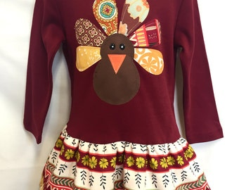 Gobble, Gobble Turkey Dress - Girls Thanksgiving Dress Outfit